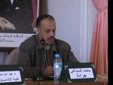 Conférence de Mr ES SBAI. Colloque sur le thème   Littérature marocaine en langues étrangères et identité culturelle CERHSO Oujda 23.24 fevrier 2011