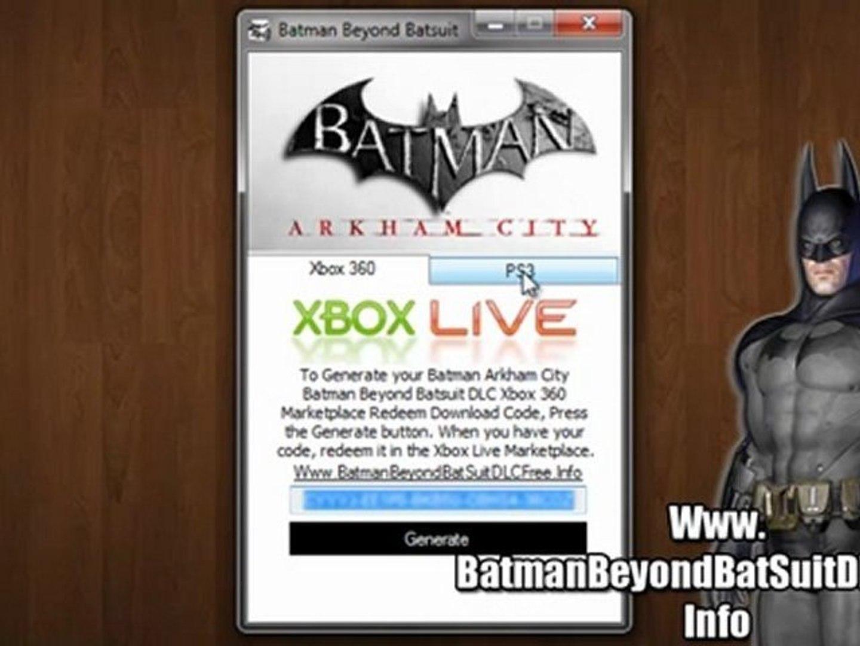 Batman Arkham City Batman Beyond Batsuit Costume DLC Codes - Free!!
