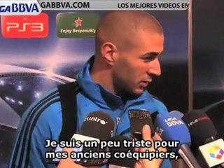 """Benzema """"triste"""" pour Lyon"""