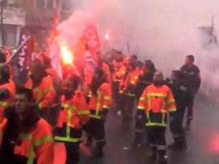 Manif pompiers 03 novembre 2011 Paris