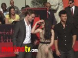 TWILIGHT Robert Pattinson, Kristen Stewart & Taylor Lautner HAND & FOOTPRINT Ceremony