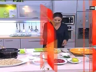 tajine de l'aid el kebir choumicha salade crevette grenade