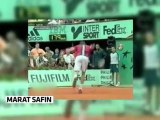 Marat Safin is the king of broken rackets