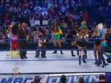 LayCool ,alicia Fox and rosa mendes vs melina, kelly kelly and the bellas twins_(360p)
