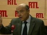 """Alain Juppé, ministre français des Affaires étrangères : """"La France prête à renforcer les sanctions contre l'Iran"""""""