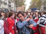Paris, France, Student Demonstration, Against Government Austerity Policies, MVI_4766