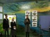 Présentation aux élèves de l'école Paul Bert des futurs jeux pour enfants du parc Michel SICRE