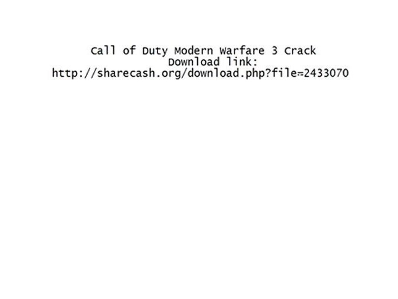 Call of Duty Modern Warfare 3 Crack !!