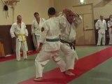 Vidéos de Ecole Shomen Nihon Tai-jitsu: défense contre poing par shio nage