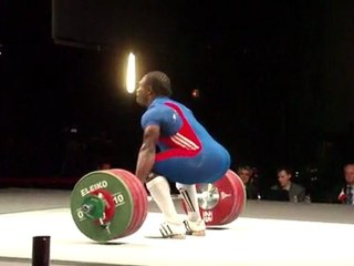 World Weightlifting Championships - M94kgB - David MATAM MATAM - Clean and Jerk 2 - 202kg