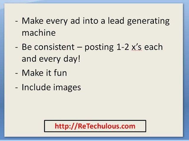 Real Estate Investor Marketing Employing Craigslist Ads