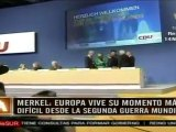 Europa, ante peor crisis en décadas: Merkel