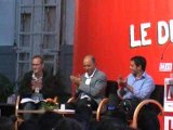 Laurent Fabius débat avec le MJS