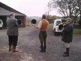 Le Départ pour la chasse à courre au lièvre, dans le Gers