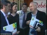 Rueda de prensa de Cayo Lara en Sevilla