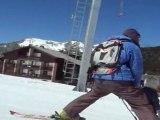 Ski school in Serre Chevalier  Romane first day on ski