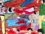 Dessins d'Enfants au Camp de Concentration de Gaza _ Destruction d'un Peuple , vol de Terre ...