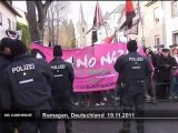 Neo-Nazi demonstration in Germany - no comment