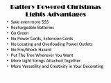 Battery Powered Christmas Lights Advantages