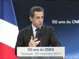 Nicolas Sarkozy au CNES le 22 novembre