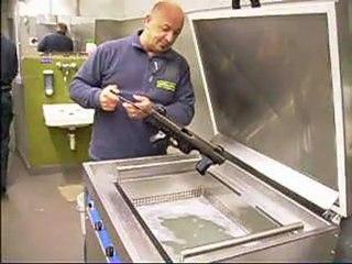 Lavatrici ad ultrasuoni per armi guardia di finanza