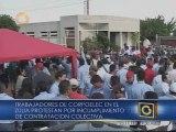 Trabajadores de Corpoelec - Zulia exigen pago de utilidades