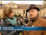 Les obsèques de Danielle Mitterrand à Cluny