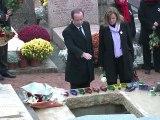 François Hollande aux obsèques de Danielle Mitterrand