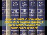 51. Cours du Sahih d' Al Boukhari Début de la création chapitre 4 sur le soleil et la lune 3/3