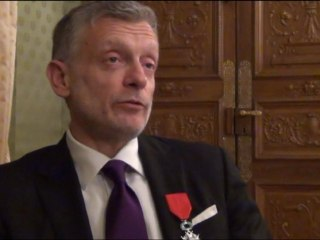 Portrait de Philippe Brunet à l'occasion de sa remise de légion d'honneur