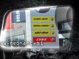 // Neonart d.o.o. // Pylon mit Reklame Reklamen Mega Tafeln Dreiseitige Tafeln Visuelle Kommunikation Totem Reklame LED Totem Elektronisches Totem 3D Buchstaben Transparente Relief Einzelbuchstaben