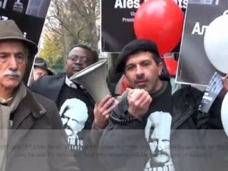 FIDH Rally in front of the Belarusian Embassy in Paris (November 25th 2011)