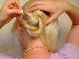 Wedding hairstyles for long hair tutorial Quick easy elegant updo Bridal prom bun autumn fall 2011