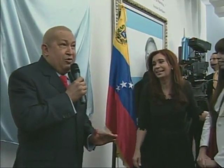 Presidente Chávez pintó cuadro en honor a Néstor Kirchner