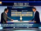 À Toulon, Nicolas Sarkozy a dessiné son programme pour 2012, en tentant de convaincre l'Allemagne