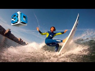3D Video. Surf and SUP in Gijón