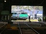 La BB 26227 et la CC 7102 sous la rotonde de Chambéry