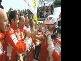 Brazil 2007 Formula One Parc Ferme and Podium