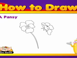 Learn to Draw Flower in Hindi - Pansy
