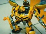 Transformers Bumblebee VS. Barricade en stop-motion