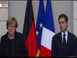 """Sarkozy sur la """"germanophobie"""" : """"ne pas jouer avec l'histoire de nos 2 pays"""""""