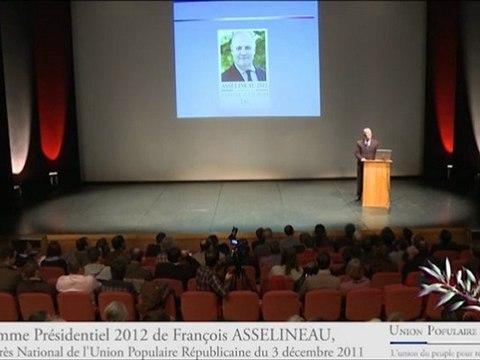 Présidentielle 2012 : le programme de François Asselineau, Président de l'UPR (1/10)