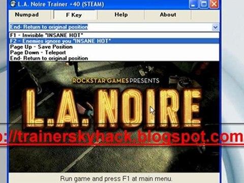L A  Noire Trainer +40 (STEAM) -- PC [ Working Trainer ]