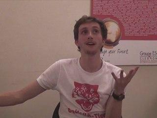 Baptiste Lecaplain avant son spectacle ! (ESC LOL TOUR)