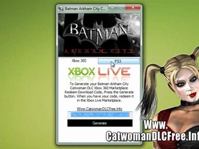Batman Arkham City Catwoman Character Pack DLC Codes - Free!!