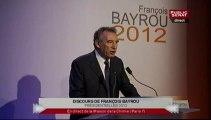 François Bayrou : discours pour la présidentielle 2012