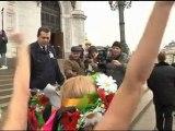 Anti-Putin protesters strip off
