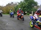club motos les dragonotes pluzunet  rando moto noel de l estran 2011 arrivée a petit camp au restaurant