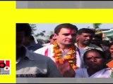 14. Sonia Gandhi, Rahul Gandhi and Priyanka Gandhi Vadra during campaign