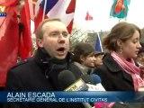 Manifestation de catholiques traditionnalistes contre la pièce de théâtre Golgota Picnic